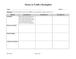 Themes in To Kill a Mockingbird 8th