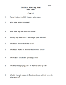 To Kill a Mockingbird: Study Guide 8th