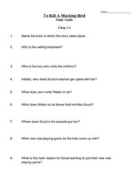 To Kill a Mockingbird: Study Guide 8th - 10th Grade ...