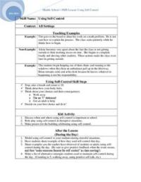 Using Self-Control 6th - 8th Grade Lesson Plan | Lesson Planet