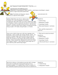 Variables With The Simpsons 6th Grade Worksheet | Lesson ...