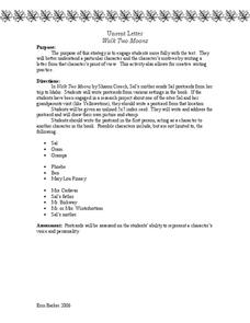 Walk Two Moons Unsent Letter 6th 8th Grade Activities