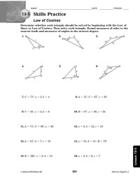 Law Of Sine And Cosine Worksheet Free Worksheets Library