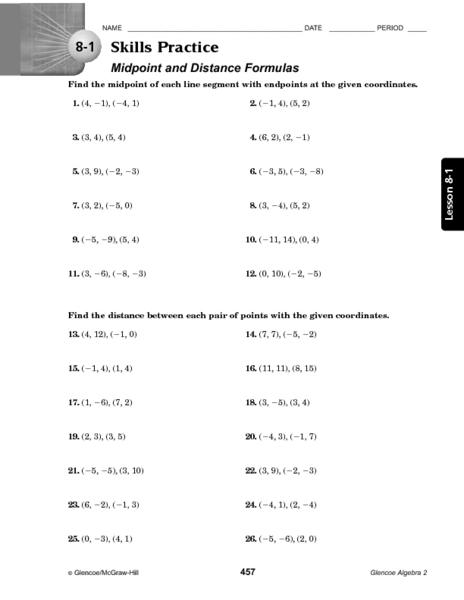 Printables. Distance Formula Worksheets. Mywcct Thousands