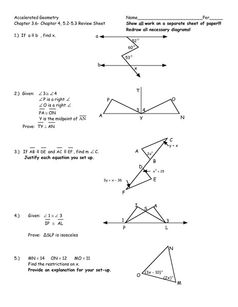 Geometry Review Worksheet Free Worksheets Library