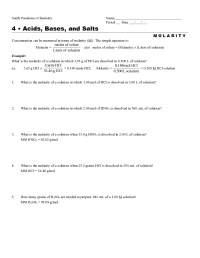Acid Base Reactions Worksheet. Worksheets. Tutsstar ...