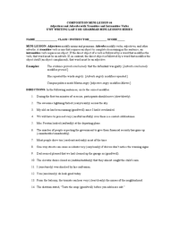 Adverb Worksheets For Sixth Graders - a website with five ...