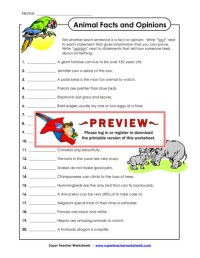 All Worksheets  Fact And Opinion Worksheets - Printable ...