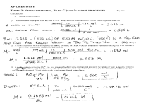 Chemical Equations And Stoichiometry Worksheet Free ...