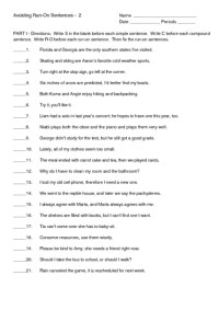 Printables. Run On Sentence Worksheet. Freegamesfriv