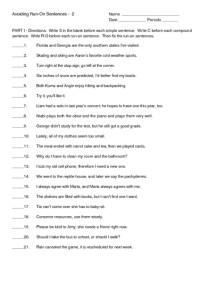 Printables. Run On Sentence Worksheet. Freegamesfriv ...