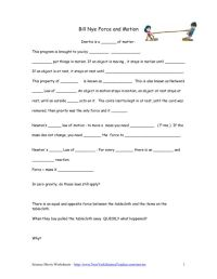 Bill Nye Motion Worksheet Free Worksheets Library ...