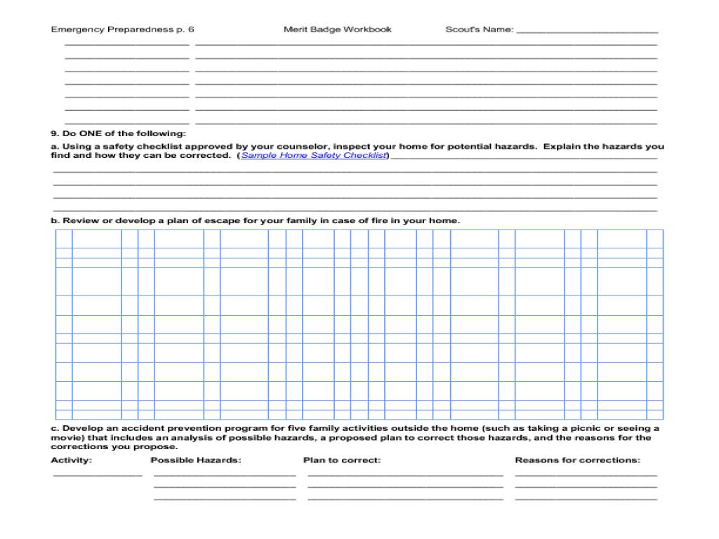 Communications Merit Badge Worksheet Answers Free