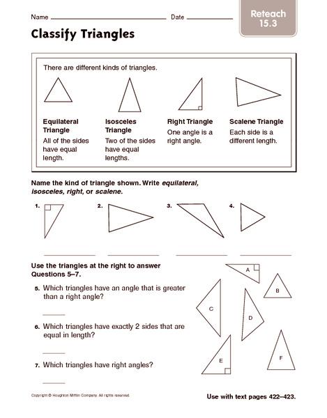 Classifying Angles Worksheet 4th Grade   Favorite Worksheet