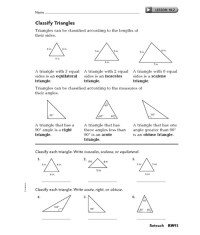Classifying Triangles Worksheet. Worksheets. Ratchasima ...