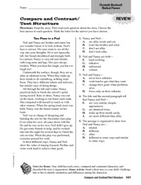 Compare And Contrast Worksheets Fourth Grade. Compare ...
