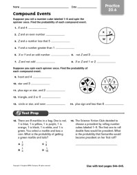 7th Grade  Compound Probability Worksheets 7th Grade ...