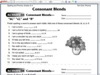 Consonant Blends Worksheets For Kindergarten - printable ...
