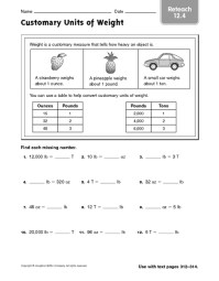 Customary Units Of Measurement Worksheets Free Worksheets ...