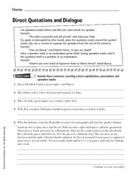 Quotations Worksheet - Free worksheets library - Download ...