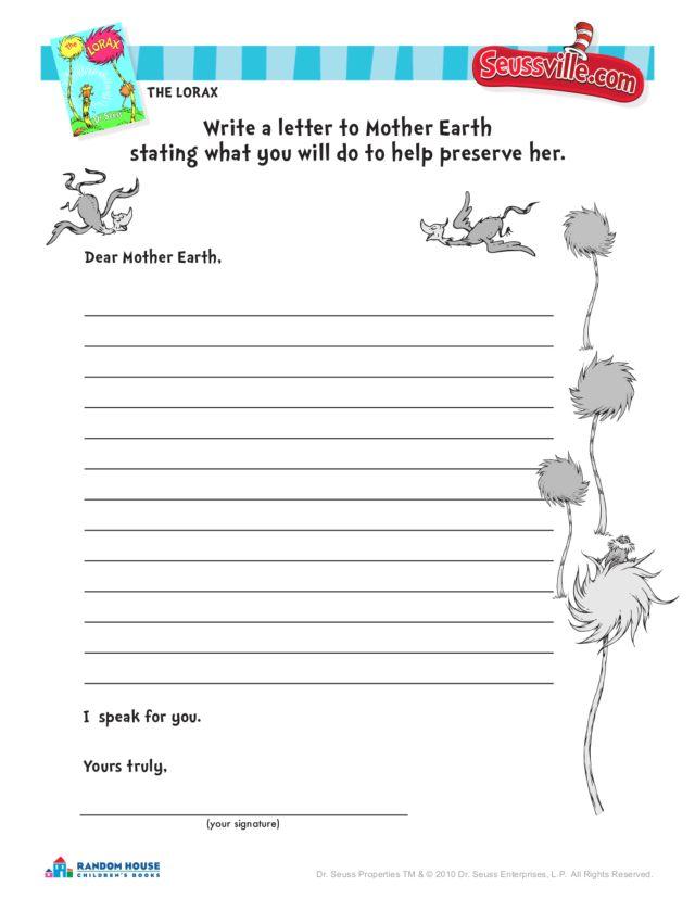 Lorax Worksheet