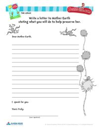 Lorax Worksheet - wiildcreative