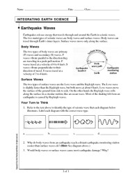 Earthquakes And Seismic Waves Worksheet. Worksheets ...