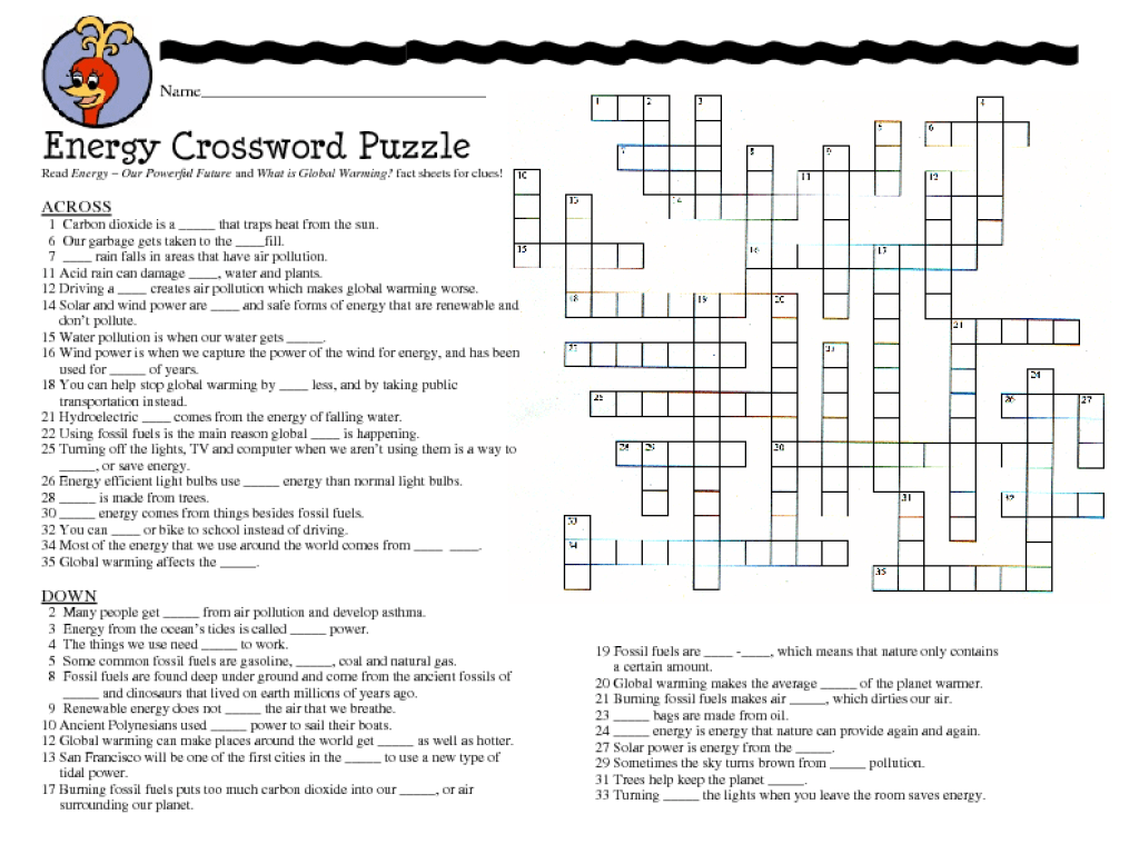 Math Crossword Puzzles For 7th Grade 7th grade science crossword puzzles  worksheets for kids - Lusine [ 768 x 1024 Pixel ]