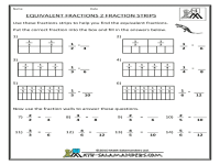 Fraction Bars Printable Worksheets