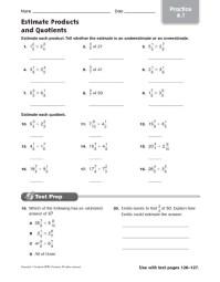 Estimate Fractions Worksheet - quiz 15 estimating ...
