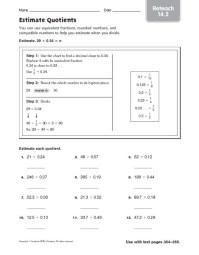 Estimating Division Problems Worksheets - estimate ...