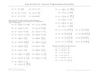 worksheet. Inverse Trig Worksheet. Grass Fedjp Worksheet ...
