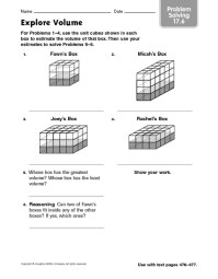 Pin Volume Worksheets Grade 5 on Pinterest