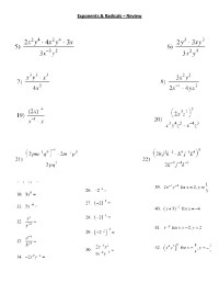 Exponent Rules Worksheet 2 Answer Key - multiplying ...