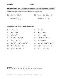 All Worksheets  Factoring Polynomials Pdf Worksheets ...