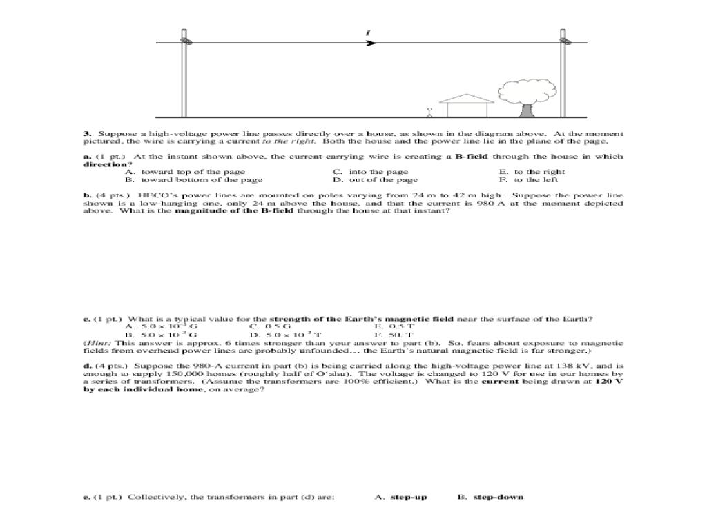 Magnetism Worksheet Answer Key