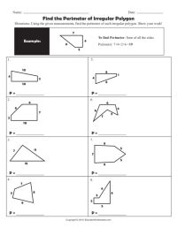 Area And Perimeter Of Irregular Shapes Worksheets Free