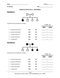Genetic Worksheet Middle School. Genetic. Best Free ...