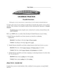 Parallelism Worksheets Free Worksheets Library | Download ...