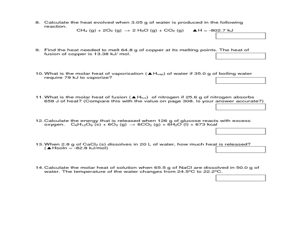 Worksheet Heat Of Formation Worksheet Grass Fedjp Worksheet Study Site