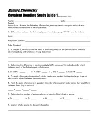 Covalent Bonding Worksheet Free Worksheets Library ...