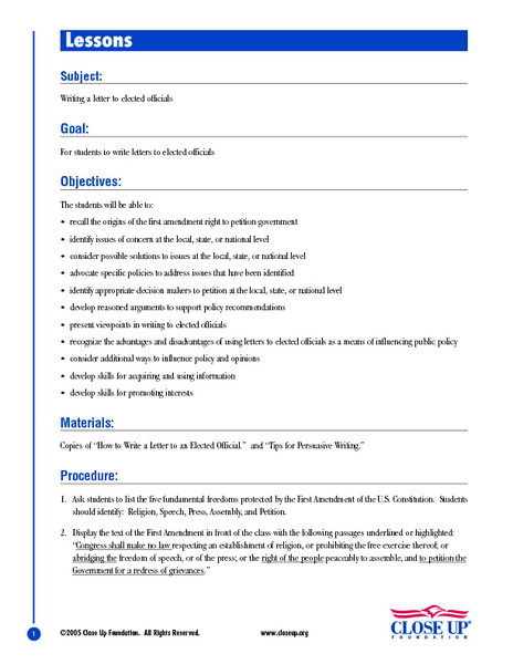 Lesson plan for how to write a resume