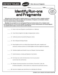 Sentence Fragments And Run Ons Worksheet Free Worksheets
