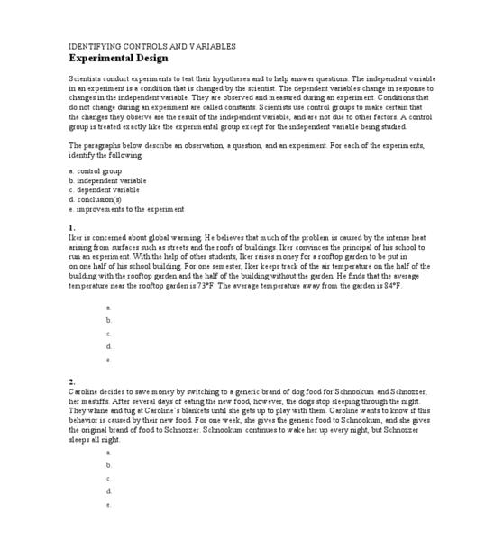 Science Variables Worksheet Sharebrowse – Independent Variable Vs Dependent Variable Worksheet