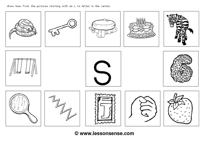 Number Names Worksheets  Initial Sounds Worksheets