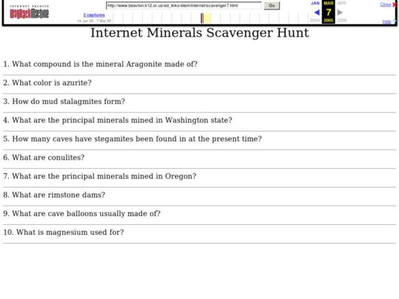 Internet Scavenger Hunt Worksheet Free Worksheets Library