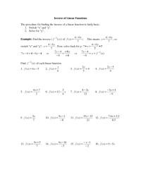 Printables. Inverse Functions Worksheet. Ronleyba ...