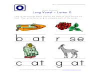 Long Vowel O Worksheets Free Worksheets Library | Download ...