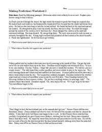 All Worksheets  Making Predictions Worksheets - Printable ...