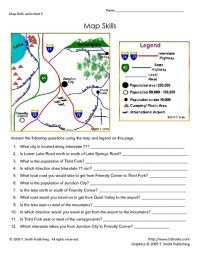 Free Map Scale Worksheets For 3rd Grade - free map skills ...